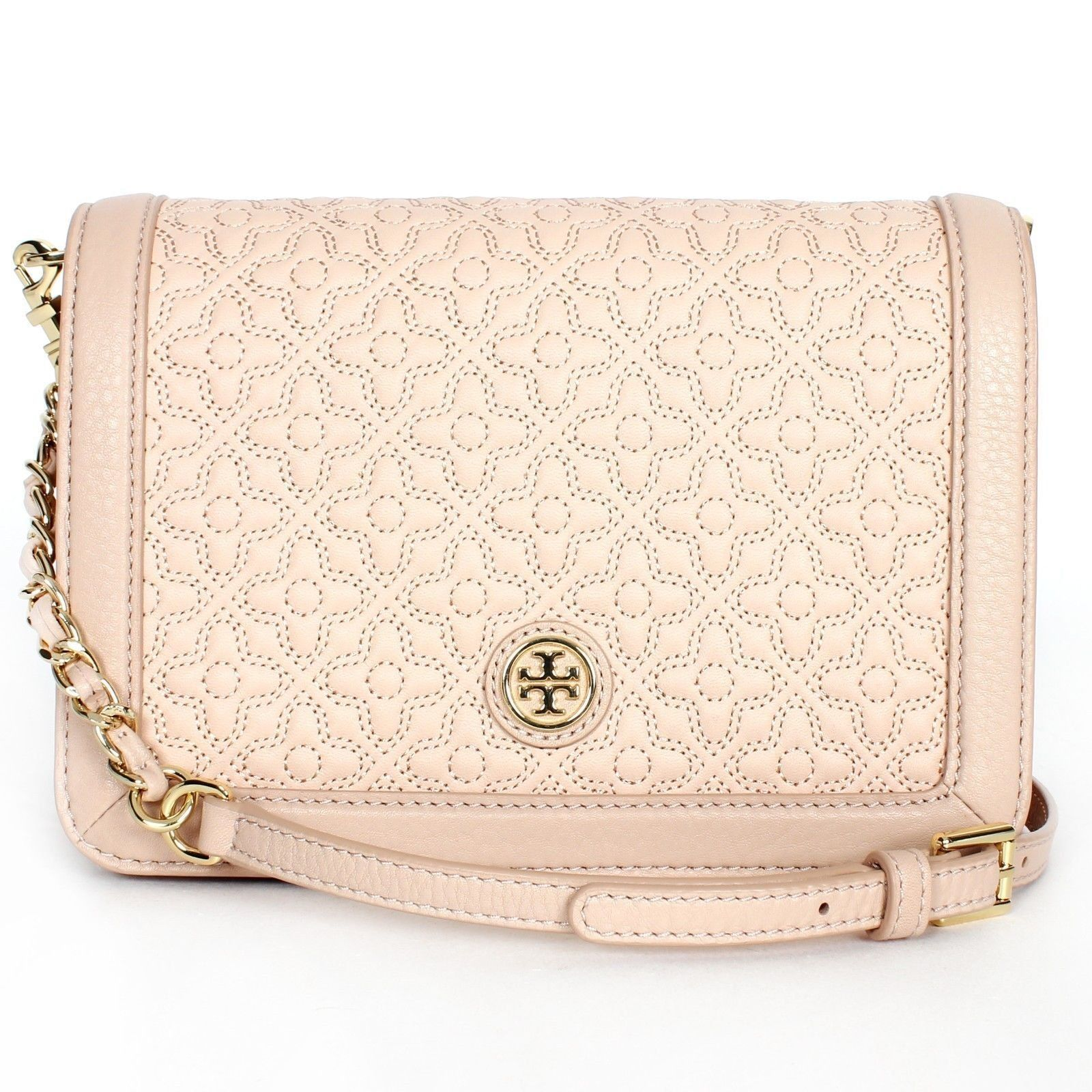10f0cbbcd08 S l1600. S l1600. Previous. BRAND NEW TORY BURCH 46182 LIGHT OAK 205 BRYANT  QUILTED CROSS-BODY HANDBAG PURSE