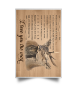 Deers I Love You More I Love You The Most POSPO Satin Portrait Poster - $19.00+