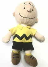 "Kohl's Cares Peanuts Charlie Brown Stuffed Plush Doll Yellow Shirt 15"" Tall - $16.45"
