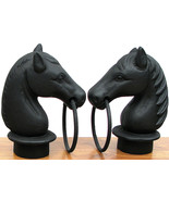Cast Iron Pair Horse Head With Ring Topper for Hitching Post Set NEW!!! - $64.34