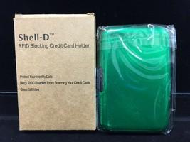 Shell-D RFID Blocking Credit Card Holder Accordion Style Green NIB - $10.00