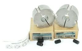 LOT OF 2 NIB DODGE 117158 TAPER-LOCK BUSHINGS 1610 X 3/4 KW