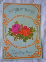 Vintage Rust Craft A Birthday Thought Card 1975 - $3.99