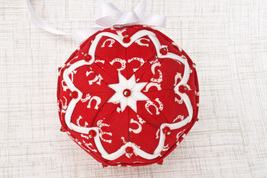 Horseshoe Quilted Ornament, Red Horse Ornament, Horse Owner Gift, Pony O... - $24.99