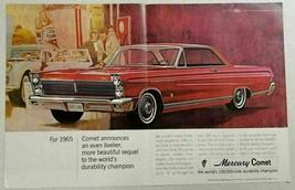 1965 Print Ad '65 Mercury Comet Caliente 2-Door Cars Durability - $14.11