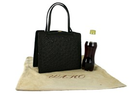 Genuine Ostrich Brown Leather Multi Chamber Hand Bag Accessories Bag Pur... - $157.41
