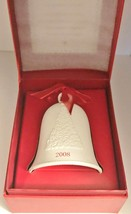Hallmark Porcelain Dated Bell 2008 Happy Holidays in Box - $16.82