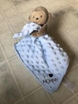 Child of Mine Carters Blue Lovey Plush Monkey I Love Mommy Rattle Satin Blanket - $23.19