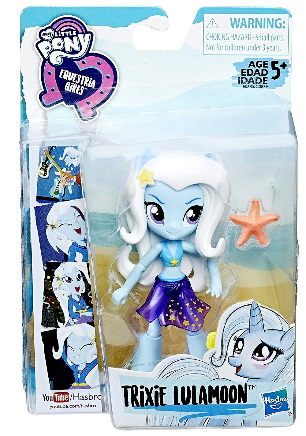 My Little Pony Equestria Girls minis Trixie Lulamoon Doll Beach Collection 2017