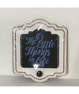 """Hanging Sign with Knob 6.75"""" X 8"""" X 0.25"""" New It's the Little Things - $14.73"""