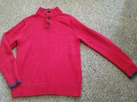 LANDS END Red Heavy Weight Cotton Sweater Boys Size 10-12 - $8.48