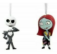 Hallmark Nightmare Before Christmas Sally & Jack Skellington Ornaments - $35.99