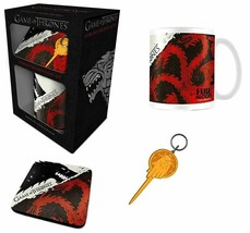 Game Of Thrones Stark and Targaryen Mug, Coaster and Keychain Gift Set - $12.38