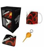 Game Of Thrones Stark and Targaryen Mug, Coaster and Keychain Gift Set - $12.38