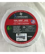 "Hardcast Carlisle Foil Grip 1402 Rolled Mastic Sealant Tape 3"" x 100' Unprinted - $39.59"
