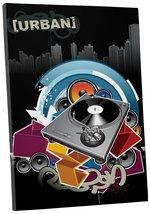 "Pingo World 0715Q82ZBFY ""DJ Turntable Urban Pop"" Gallery Wrapped Canvas ... - $53.41"