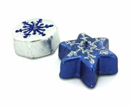 8x Metallic Snowflake Candles - $6.99