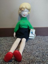 "Vintage 1985 Hi And Lois 18"" Plastic Cloth Tomy Doll - $51.48"