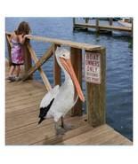"""34"""" Tall Oceanside Pelican Outdoor Statue (dt) J13 - $890.99"""