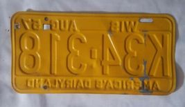 1957 58 Tag. Wisconsin License Plate WIS image 3
