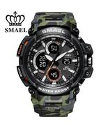 SMAEL Men's military style, 50m waterproof, digital analog, quartz watch. - $22.99