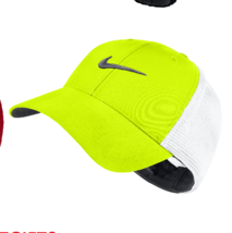 NEW! NIKE Unisex Legacy 91 Tour Mesh Hat-Volt/White/Black, M/L 727031 - $49.38