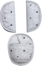 Dooky 3-Piece Strap Covers in Grey Crowns