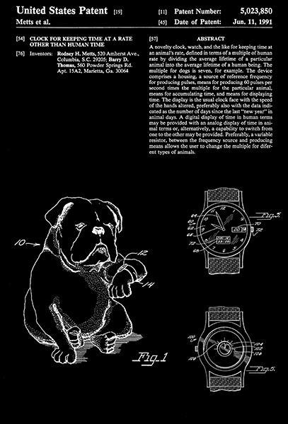 Primary image for 1991 - Dog Watch - Animal - R. H. Metts - Patent Art Poster