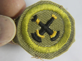 Vintage 1950s Boy Scouts Merit Badge- Fireman-ship folded patch - $7.50