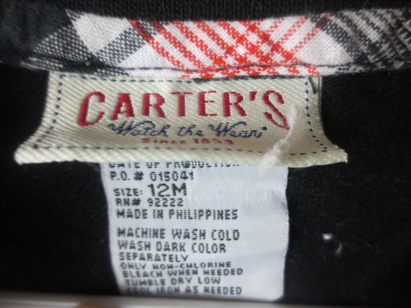 Carters Watch the Wear Polo Shirt Black 12 Months