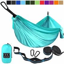 Fun Aqua Blue Portable Hammock for Traveling, Adventures, Hiking, Camping - $59.00