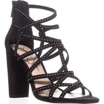 Jessica Simpson Emmi Strappy Studded Sandals, Black - $36.99