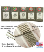 ORGAN  HOME SEWING MACHINE FLAT SIDE NEEDLES HAX1 12 14 16 - $5.98