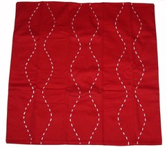 Tommy Hilfiger Molly Red With White Satin Ribbon Lacing Euro Sham Nip Disc - $34.99