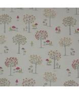 Bosco Forest Alberi Crema 100% Cotton di Qualità Fabric Materiale 3 Misure - $1.74+