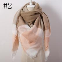 Hot Fashion Warm Cashmere Plaid Blanket Women's Warp Scarf Pashmina Shawl image 3