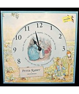 Wedgwood Beatrix Potter Peter Rabbit Ceramic Wall Nursery Clock Made in ... - $47.99