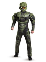 Mens Halo Deluxe Master Chief Muscle Costume new - $79.00