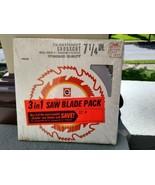 "Vintage Black & Decker UNOPENED 3 Pack 7-1/4"" Saw Blades CROSSCUT Plywoo... - $29.99"