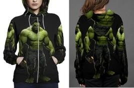 hulk full black and green poster Hoodie Zipper Women's - $48.99+