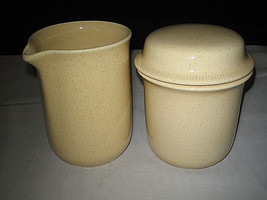 FRANCISCAN SEA SCULPTURES sand Creamer & Sugar Bowl Set Primary  Pristin... - $44.99