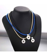 Fashion 59cm Choker Necklace Snap Jewelry for Women 18mm Snap Buttons Pe... - $9.67
