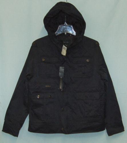 Sean John Brand Mens SJOAC830 1X Extra Large Black Jacket