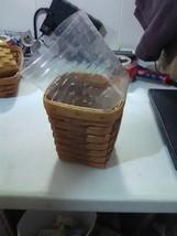 Longaberger Medium Heartland Spoon Basket  with Plastic Protector - 1991 - $9.15
