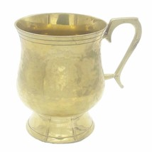 Brass Beer Stein Handcrafted Hammered Finished Heart Shape Handle - $46.55