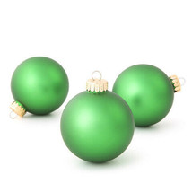Darice Christmas Bulbs: Matte Christmas Green, 67 millimeters, 8 pieces w - $9.99
