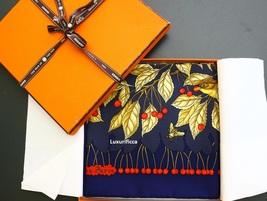 """NWOT Authentic Vintage Hermes Paris Scarf """"Les Merises"""" Antoine De Jacquelot 90  - $385.00"""
