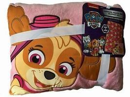 Paw Patrol Skye Toddler Pillow and Blanket Set Super Hero Dog Pink Girls... - $12.99