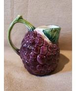 Bresolin Hand Painted Made In Italy Blackberry Creamer Jug - $12.99