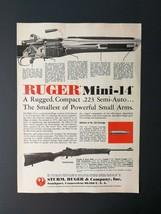 1977 Sturm, Ruger & Company Mini-14 Compact .223 Semi-Auto Rifle Full Page Ad - $5.98